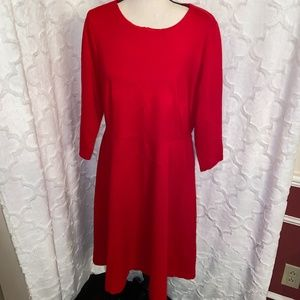 Land's End - Red Dress - Large